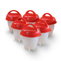 Chinese supplier as seen on TV set 6 packs BPA free egglettes hard & soft boiled Maker silicone egg cooker without shell