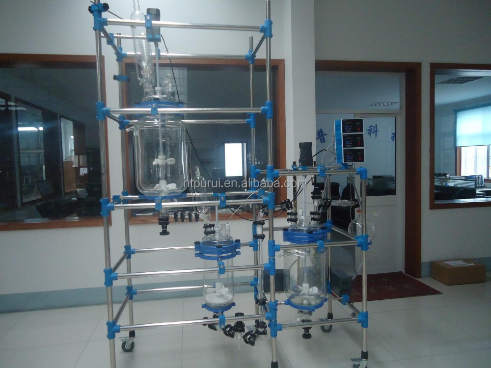 30L Jacket Glass Reactor with Filter for Lab Use
