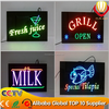 ali-express hot selling & high quality new LED innovation OEM allowed resin led open sign shops brightness indoor advertising