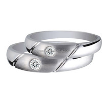 316L stainless steel ring true love waits cubic zirconium heart ring wedding ring