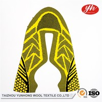 3D Shoe Uppers OEM Design Flyknit Vamp Big Hole Mesh Fabric