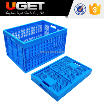 Color can be customized storage foldable collapsible plastic vegetable crate