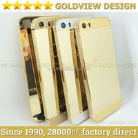 24kt gold plated housing for iPhone 5s,for iPhone 5s luxury housing,2014 gold housing for iPhone 5s
