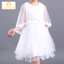 Kids Party <strong>Girls</strong> Flower <strong>Girl</strong> <strong>Dress</strong> Children <strong>Girl</strong> Princess White Fluffy Children Kids Birthday Party Angel Kids <strong>Dress</strong>