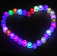 Wedding Decoration Colorful flameless led tea light candles