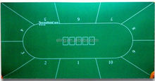 Poker Table Fabric ( casino equipment with flocking nylon and rubber materia)2014 new style mahjong table mat