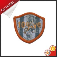 OEM Die-cut Self Adhesive Mellowed Decorative Fabric Patch