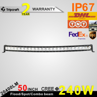 10W SINGLE ROW CURVED LED LIGHT BAR FOR ATV, SUV, CAR, TRUCK, TUNING LIGHT, 240W CURVED LED LIGHT BAR