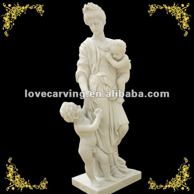 Decorative stone garden sculpture