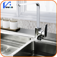 Brass silver square kitchen tap