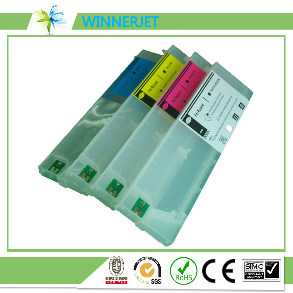 china supplier commonly used for mutoh roland and mimaki wide format printer 440ml refillable ink cartridge
