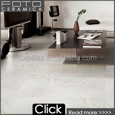 Pakistan polished carrera marble tile look glazed ceramic flooring