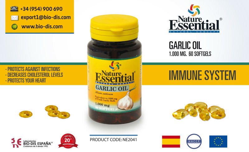Garlic Oil 1000 mg 60 Softgels - Food Supplement