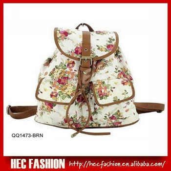 Floral Print Backpack,CT14319