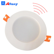White fixtures 10w microwave induction downlight motion sensor recessed lamp led surface mount down light