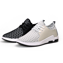 2017breathable mesh casual men's sports shoes made in China