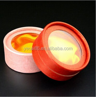 Jewelry Paper Packing popular round gift box with UV clear window