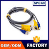 Manufacturers selling computer printers cable KVM and lines 1.5m grey 3 parallel cable KVM print VGA cable