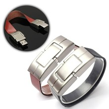 USB 3.0 Flash Drive Memory U Disk Metal PU Leather usb flash drives new usb promotional gifts watch/wrist shape strap