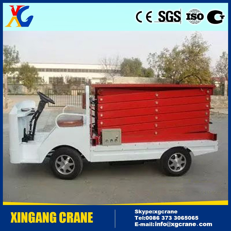 Sky car vehicle mounted lifting platform