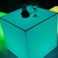 Led cube chair remote control wedding led cube light furniture battery powered LED flashing cube