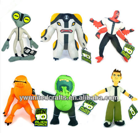 "BEN 10 ALIEN FORCE CARTOON NETWORK 12"" HAND CRAFTED SOFT PLUSH TOY DOLLS"