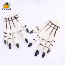 Hot Sell Vinyl Halloween Gloves with Nails
