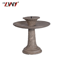 Outdoor Bird Feeder Garden Resin Birds Bath