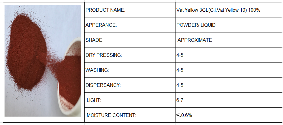 Vat Yellow 3GL(C.I.Vat Yellow 10) 100%