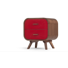 Scandinavian design modern red drawer french nightstands