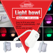 Best price factory Sensor Motion Activated LED Toilet Night Light Toilet Bowl Light