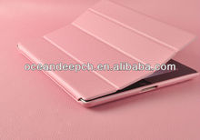 High quality leather flip cover for ipad 4