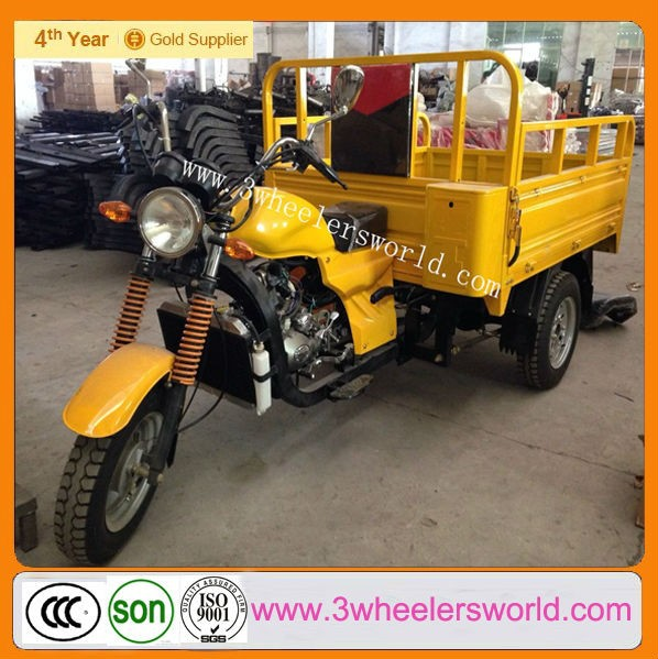 Alibaba China Petrol Cheap Cargo Reverse Trike Motorcycles