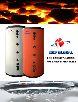 EDS HOT WATER TANK- SOLAR BOILER TANK WITH 316L SS 300 Lt - 5000 Lt