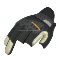 NEWSAIL Cowhide Leather Mechanical gloves/high abrasion resistance safety gloves/Three Fingerless design frees working gloves