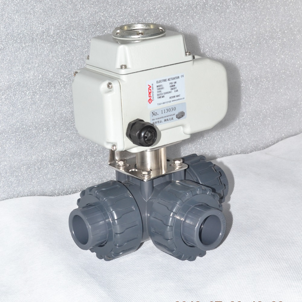 astm a105 union upvc motorized ball valve 3 way high quality