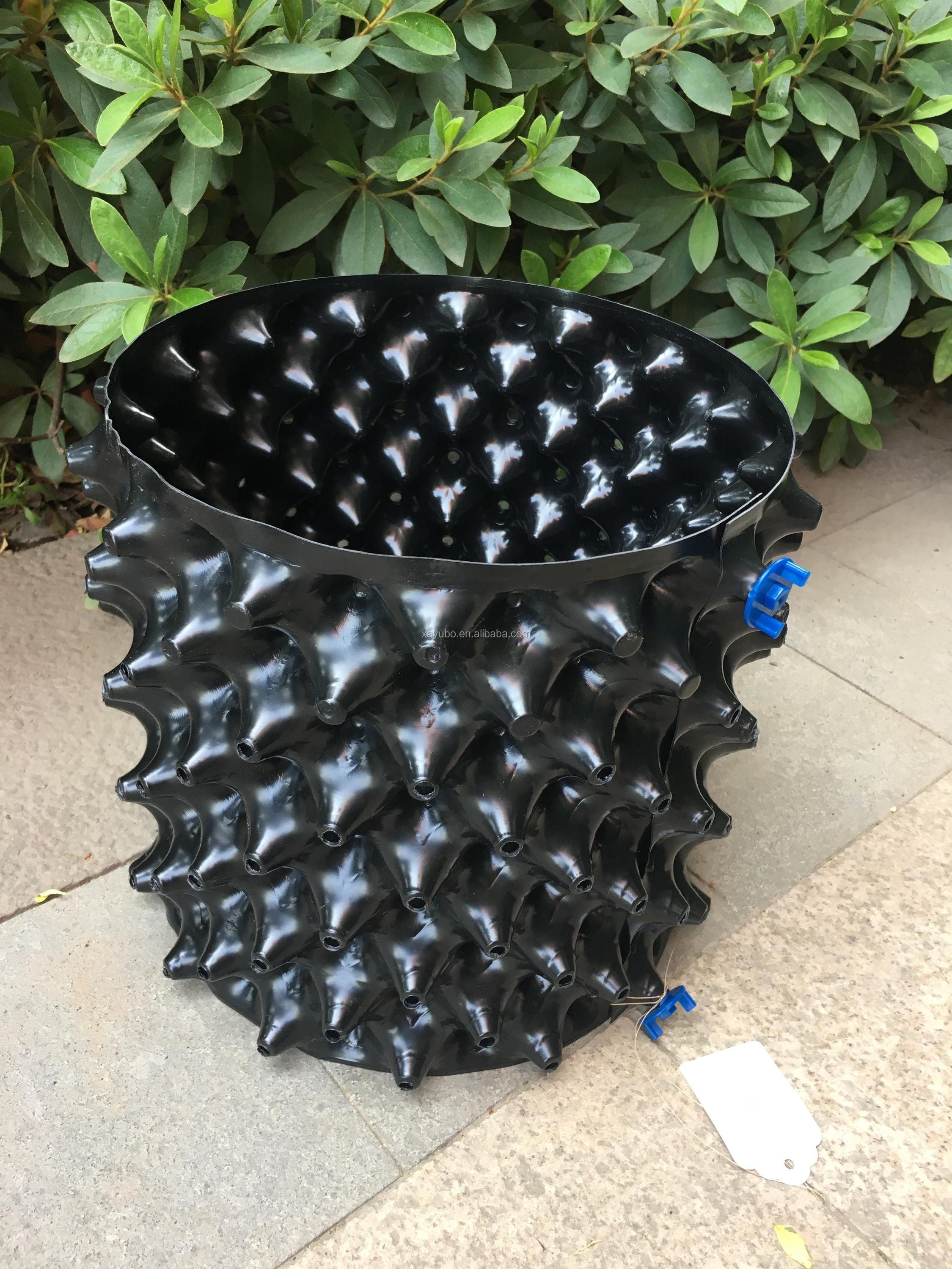 Customized OEM hydroponics air pruning roots pot, control root pot with base for gardening plants