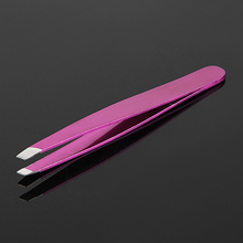 INTERWELL BR34 Custom Stainless Steel Slant Tip Eyebrow Tweezers