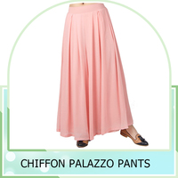 Women Summer Style Casual Loose Wide Leg Pants Elastic High Waist Loose Casual Chiffon Palazzo Pants