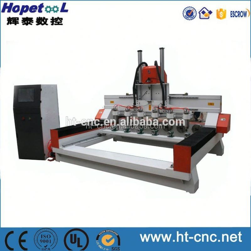 6 heads rotary axis 3d engraving cnc router machine with rotary