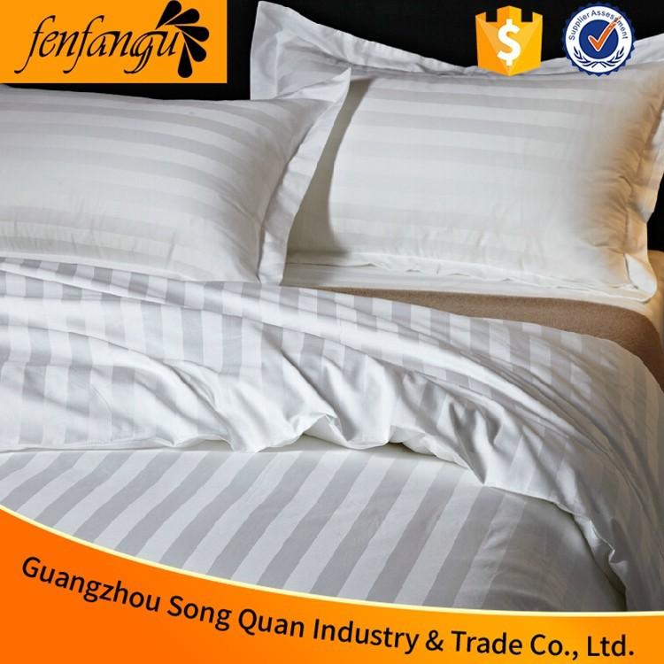 Chanson quan 2016 de luxe 100 coton blanc h tel ensemble de literie drap de bande qui pour le for Linge de lit pour hotel de luxe