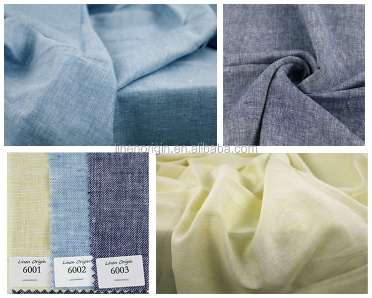 linen cotton twill fabric yarn dyed for garment