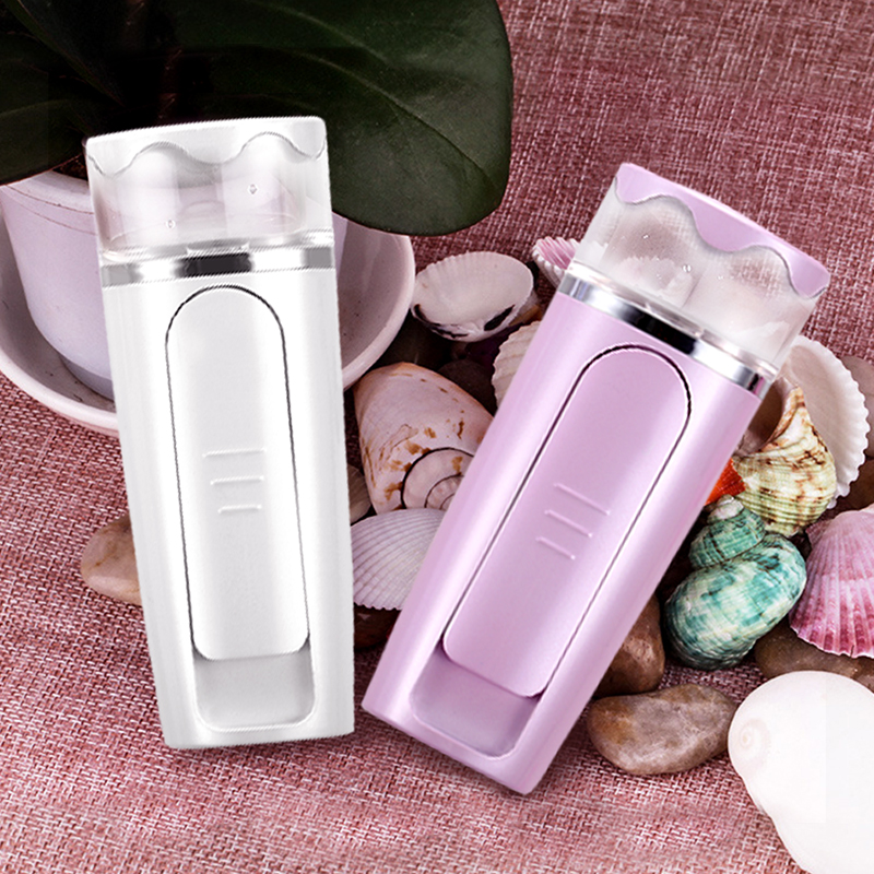 mini portable nano ionic warm mist pocket digital facial stand face steamer face portable facial moisturizer machine for salon