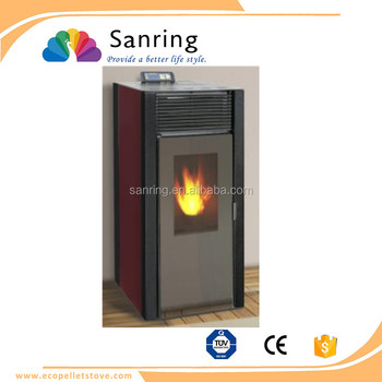 Elegant tempered glass 13 KW pellet stove ningbo china