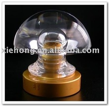 transparent bottle cap with screw thread with zinc alloy