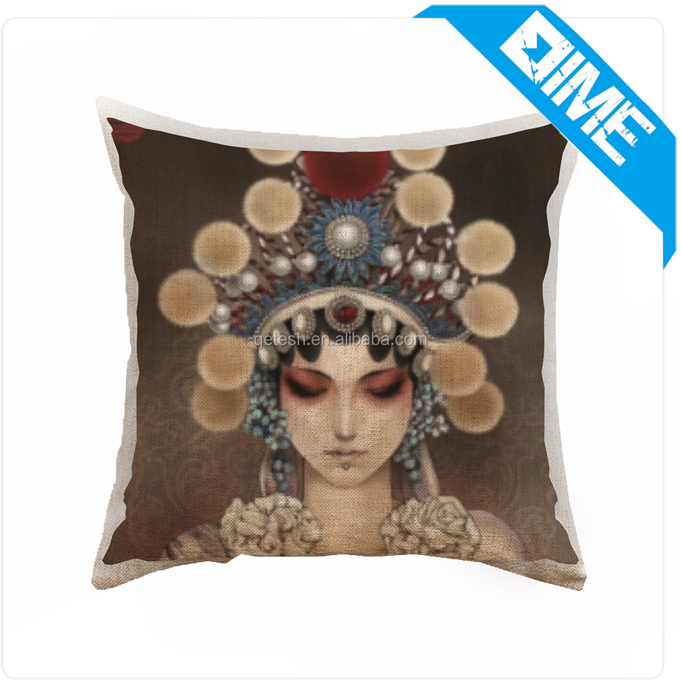 The Chinese style classical art printed Pillow case