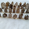 tiny natural golden rutilated quartz crystal points crystal rutile wands