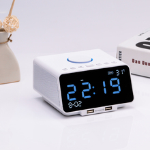 Good quality 4400mAh hotel bluetooth speaker alarm clock with tf card reader