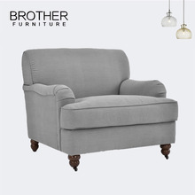Vintage style upholstered armchair tub sofa single circle sofa for reception room
