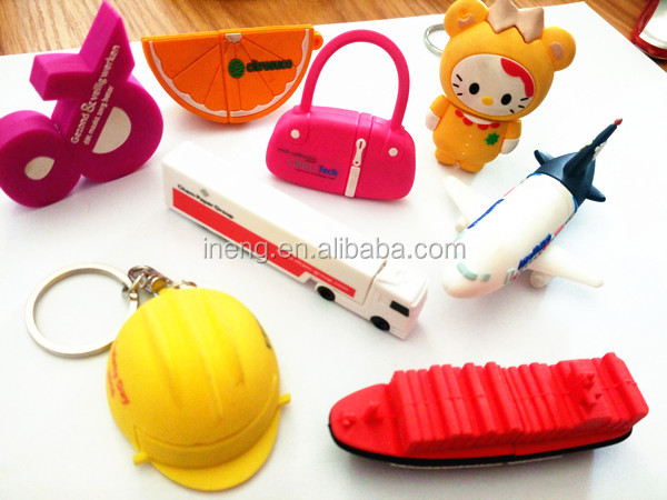PVC material promotion gifts custom usb flash drive